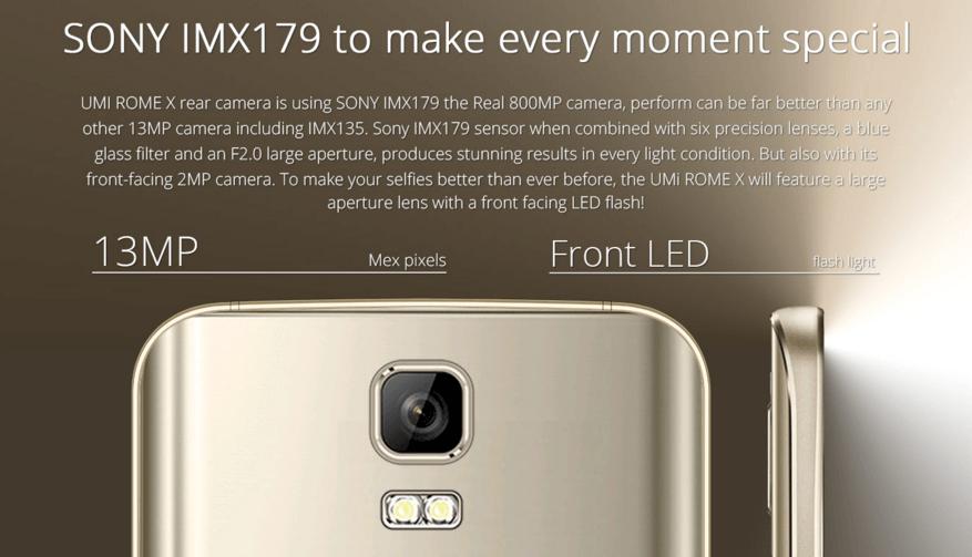При заявленных производителем 13-Мп., разрешение основной камеры составляет 8-Мп.