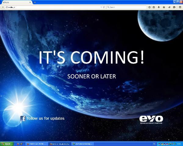 Скриншот нового сайта evolte.uz