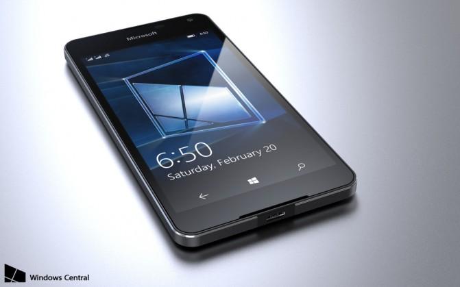 Один из рендеров Microsoft Lumia 650