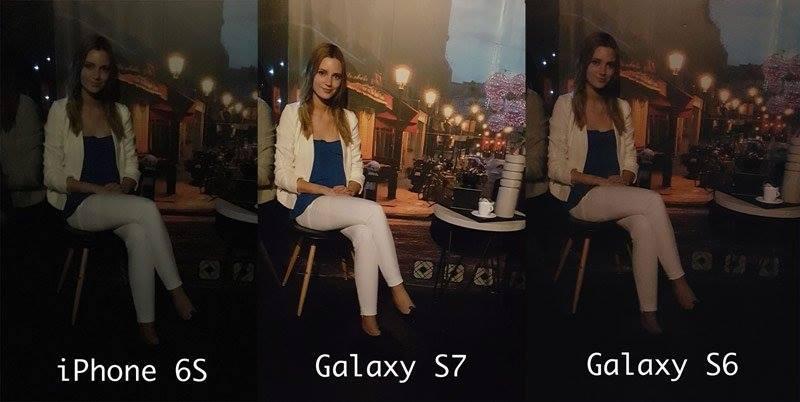 Samsung уверяет, что 12-Мп.камера S7 снимает лучше, чем iPhone 6 и S6 в условиях низкого освещения, фото Hi-Tech.Mail.ru.