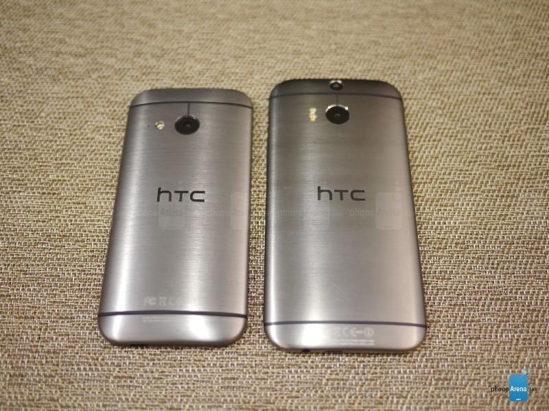 HTC One mini 2 и HTC One M8, фото phoneArena.com