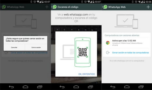 Скриншоты, свидетельствующие о разработке веб-версии WhatsApp